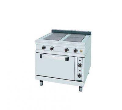 Електрическа печка с котлон и фурна SER GAS FC4FE