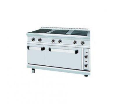 Електрическа печка с котлон фурна и шкаф SER GAS FC6FE