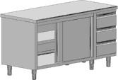 Шкаф с модул от чекмеджета